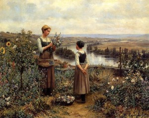 Knight_Daniel_Ridgway_Picking_Flowers